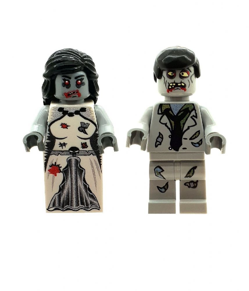 Zombie Bride & Groom - Custom Designed Minifigure